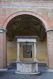 The courtyard of the Palazzo Chigi-Saracini Stock Images