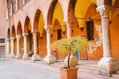 In the courtyard of the Palazzo del Capitano, Piazza Dante Stock Images