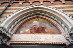The Courtyard of the  Palazzo della Ragione in Verona. Italy Royalty Free Stock Images