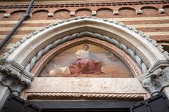 The Courtyard of the  Palazzo della Ragione in Verona. Italy Stock Photography