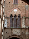 Courtyard in Palazzo Pubblico. Siena, Royalty Free Stock Photos