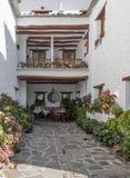 Courtyard of Pampaneira Stock Image
