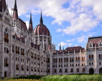 Courtyard of the Parliament Building in Budapest, Hungary. BUDAPEST, HUNGARY - AUGUST 4, 2016 : Photograph of the courtyard of the Parliament Building in stock photo