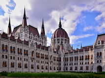 Courtyard of the Parliament Building in Budapest, Hungary. BUDAPEST, HUNGARY - AUGUST 4, 2016 : Photograph of the courtyard of the Parliament Building in stock photos