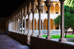 Courtyard of Pedralbes Monastery at Barcelona Stock Photo