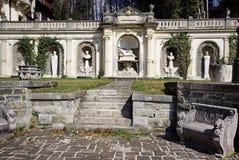 Courtyard of Peles Castle, Romania Stock Image