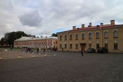 Courtyard in Peter and Paul Fortress in Saint Petersburg Stock Photography