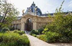 Courtyard of Petit Palais in Paris, France. stock photos