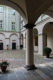Courtyard Prague Castle. Royalty Free Stock Image