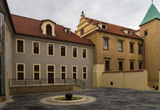 Courtyard of Prague Castle. Royalty Free Stock Photo