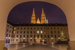 Courtyard of Prague Castle Stock Photography