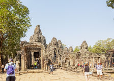 Courtyard in Prasat Bayon, Angkor Thom, Siem Reap, Cambodia. Stock Photography