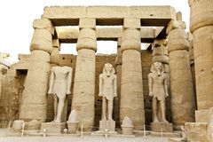 Courtyard of ramesses II. In luxor temple, egypt Stock Image