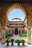 Real Alcazar. Courtyard in Real Alcazar, Seville Stock Image