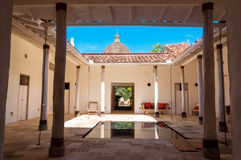 Courtyard and Reflecting Pool Royalty Free Stock Image