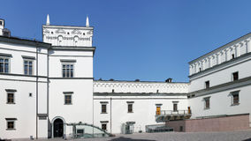 Courtyard of the restored historical Palace Royalty Free Stock Image