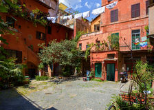 Courtyard in Rome. Italy. Royalty Free Stock Photos