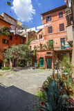 Courtyard in Rome. Italy. Royalty Free Stock Image