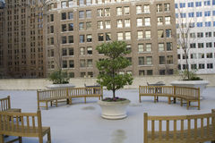 City courtyard Royalty Free Stock Photography