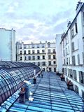 Courtyard and rooftop in Paris. A view on a courtyard Royalty Free Stock Photos