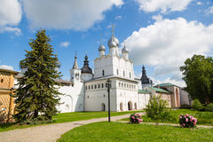 Courtyard of the Rostov Kremlin included Golden Ring of Russia Stock Photo