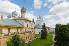 Courtyard of the Rostov Kremlin included Golden Ring of Russia Stock Images