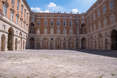 Courtyard of the Royal Palace in Caserta Royalty Free Stock Images