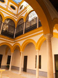 Courtyard in Royal palace of Seville Royalty Free Stock Photography
