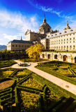 Courtyard of Royal Palace in sunny day. El Escorial Stock Photography