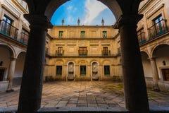 Courtyard in the Royal Site of San Lorenzo de El Escorial Stock Photography
