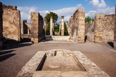 Courtyard of a ruined villa Stock Photography