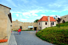 Courtyard of  Rupea (Reps) fortress Royalty Free Stock Photography