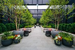 Courtyard at the Sagamore Pendry Hotel in Fells Point, Baltimore, Maryland.  royalty free stock image