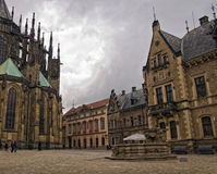 Courtyard of Saint Vitus's Cathedral Stock Photography