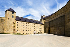 Courtyard of Sedan castle, France Stock Photos