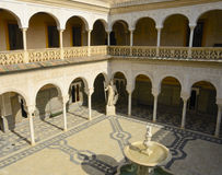Courtyard seen from above Stock Photo