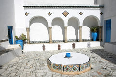 Courtyard Sidi Bou Said Royalty Free Stock Image