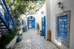 Courtyard in Sidi Bou Said Stock Image