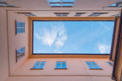 Courtyard with sky Royalty Free Stock Images