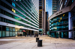 Courtyard and skyscrapers in Center City, Philadelphia, Pennsylv Stock Photography