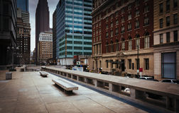 Courtyard and skyscrapers in Center City, Philadelphia, Pennsylv Stock Image