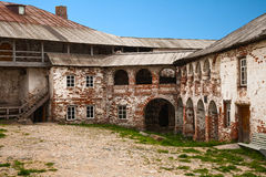 Courtyard Solovetsky monastery Royalty Free Stock Photography