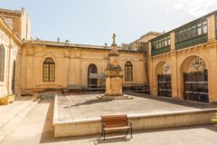 Courtyard in St John's Co-Cathedral. In Valletta in Malta Stock Photography
