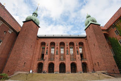 Courtyard  of Stockholm City Hall, Sweden Royalty Free Stock Images