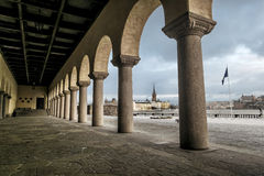 The courtyard of the Stockholm city hall in winter, Sweden. Stock Photography