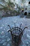 Courtyard of the Strecno castle, Slovakia royalty free stock photography
