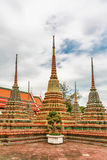 Courtyard with Stupa at Wat Pho Stock Photography