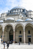 He courtyard of the Suleymaniye Mosque. Istambul, Turkey Royalty Free Stock Images