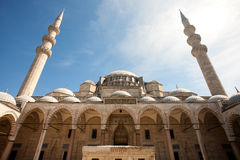 The courtyard of the Suleymaniye Mosque Royalty Free Stock Images