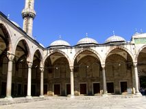 Courtyard of Sultan Ahmed Mosque Royalty Free Stock Images